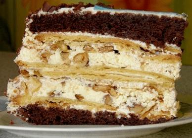 """Рецепт торта """"Крещатый яр"""" пошагово"""