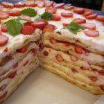 Торт «Клубниконе» рецепт