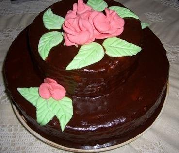 Рецепт двухъярусного торта
