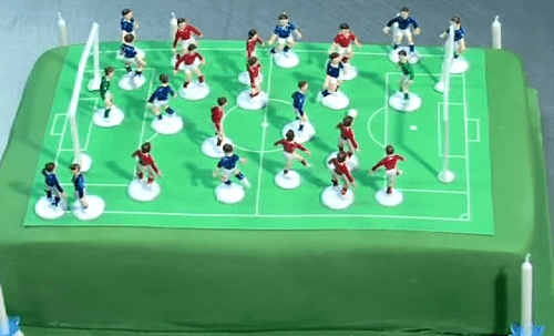 Торт футбольное поле с мастикой
