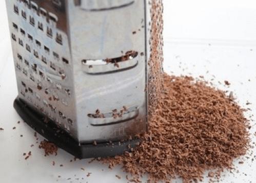 потереть шоколад на терке