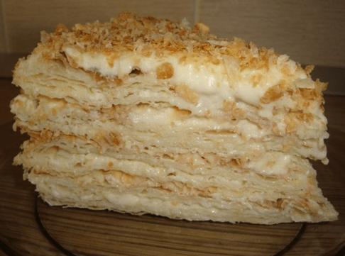 Торт Наполеон из слоеного покупного теста