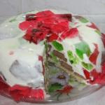 Желейный торт с крекером