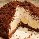 Торт Норка крота с бананами