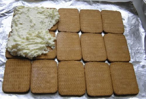 Торт Шалаш из печенья и творога