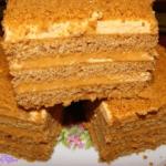 Торт Ангарский медовый