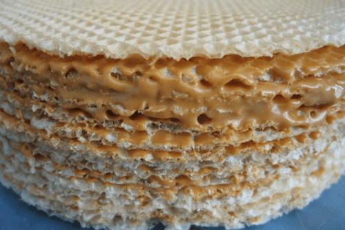 Торт из вафельных коржей рецепт с творогом