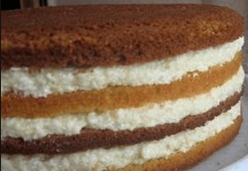Торт птичье молоко с манной кашей