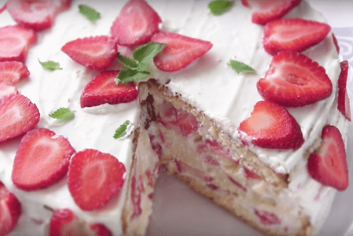 Торт Клубничная шкатулка