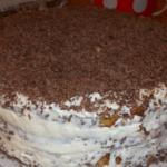 Торт Черный принц с вареньем
