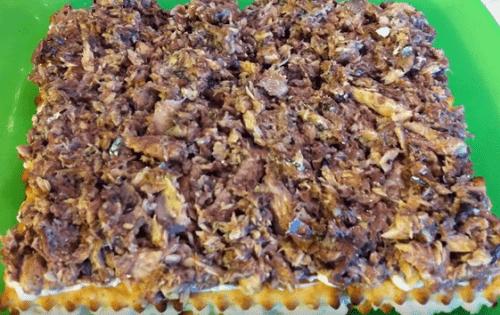 Закусочный торт из крекеров