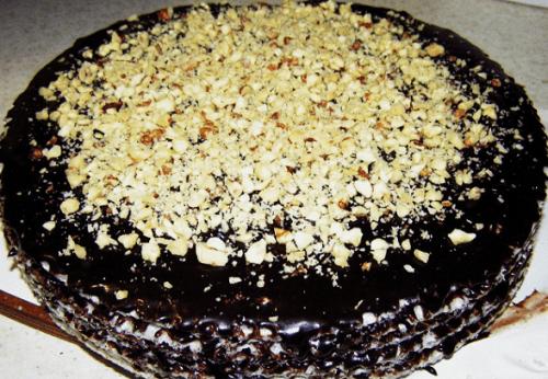 Торт из вафельных коржей и сгущенки