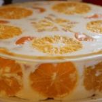 Желатиновый торт со сметаной