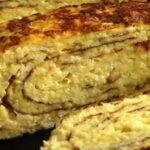 Сочный омлет с кабачком и сыром на сковороде