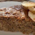 Торт из овсянки с бананом и яблоком