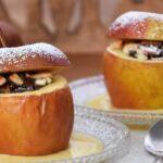 Яблоки с овсянкой в духовке