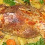 Нутрия с картошкой в духовке