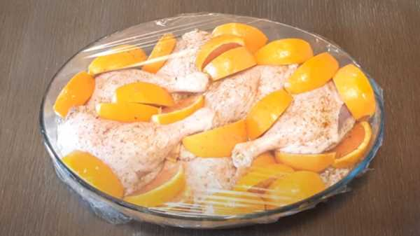 Утиные ножки в духовке с апельсинами
