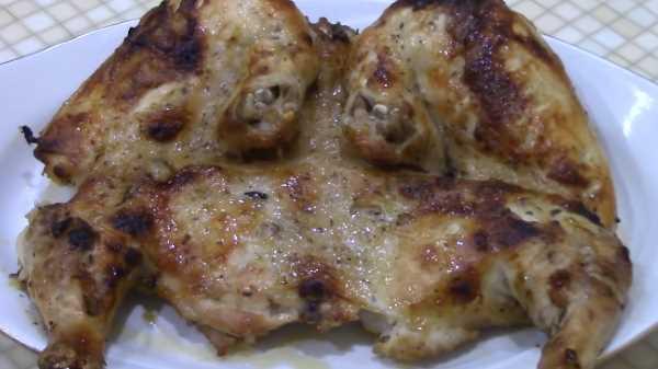 Цыпленок табака в духовке в рукаве
