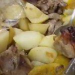 Индейка с овощами в духовке в рукаве
