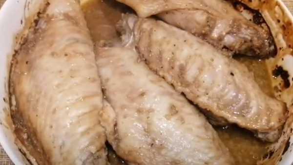 Крылья индейки в фольге в духовке