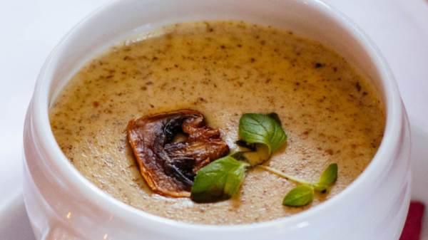 Постный суп-пюре из белых грибов