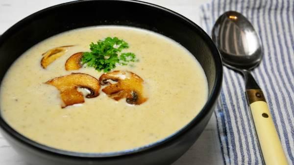 Крем-суп из белых грибов со сливками