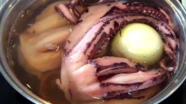 Как и сколько варить осьминога